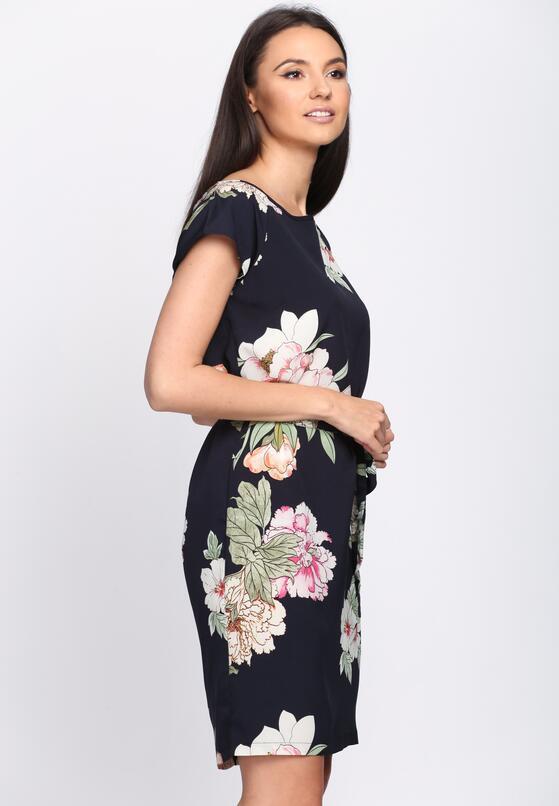 Granatowa Sukienka Elderflower