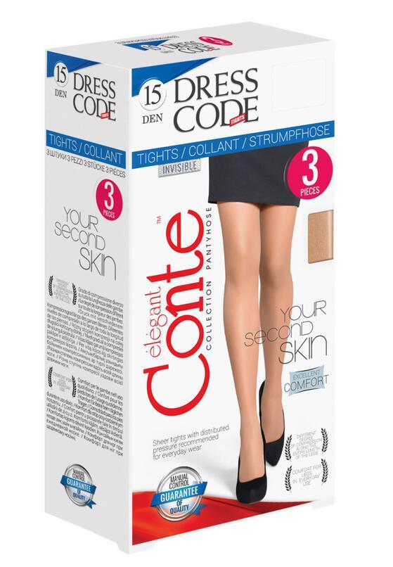Beżowe Rajstopy Conte Dress Code