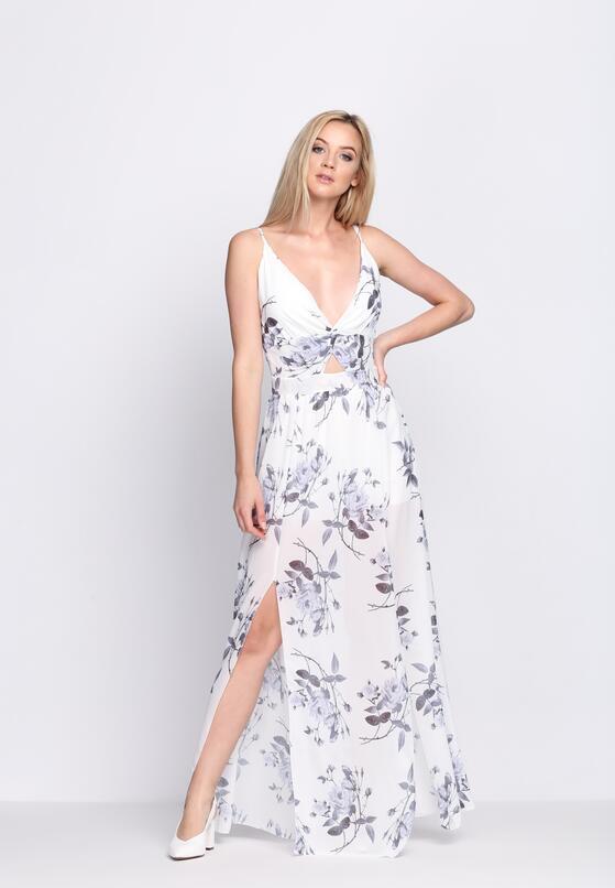Biała Sukienka Marble