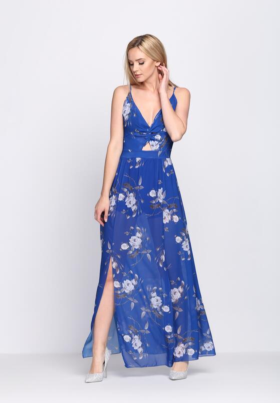 Ciemnoniebieska Sukienka Marble