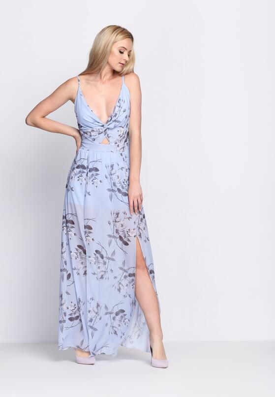 Niebieska Sukienka Marble