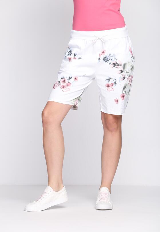 Białe Szorty Shimmering Blush