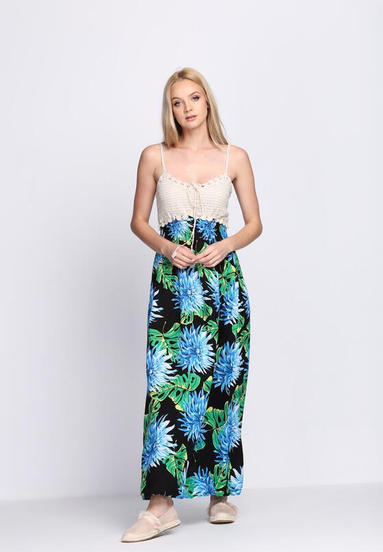Czarno-Niebieska Sukienka Turquoise Water