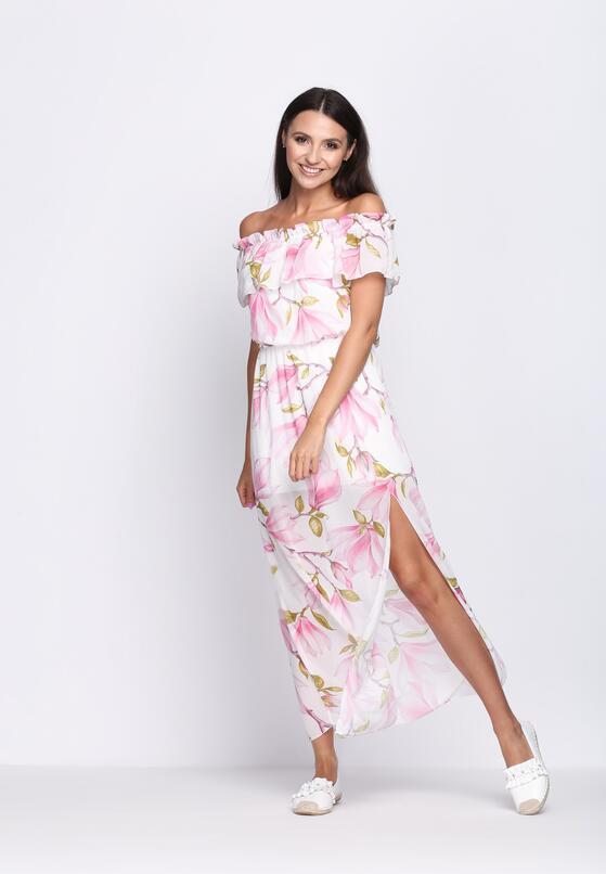 Biało-Różowa Sukienka Holidays
