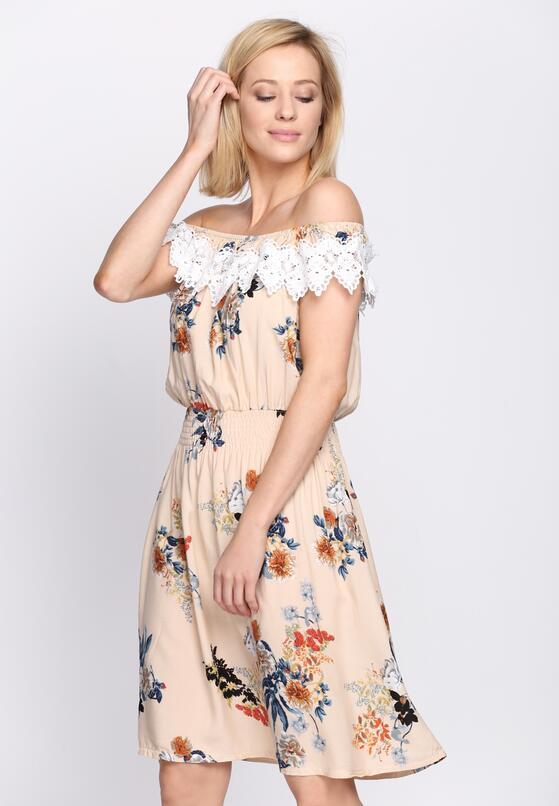 Kremowa Sukienka Cosmic Love
