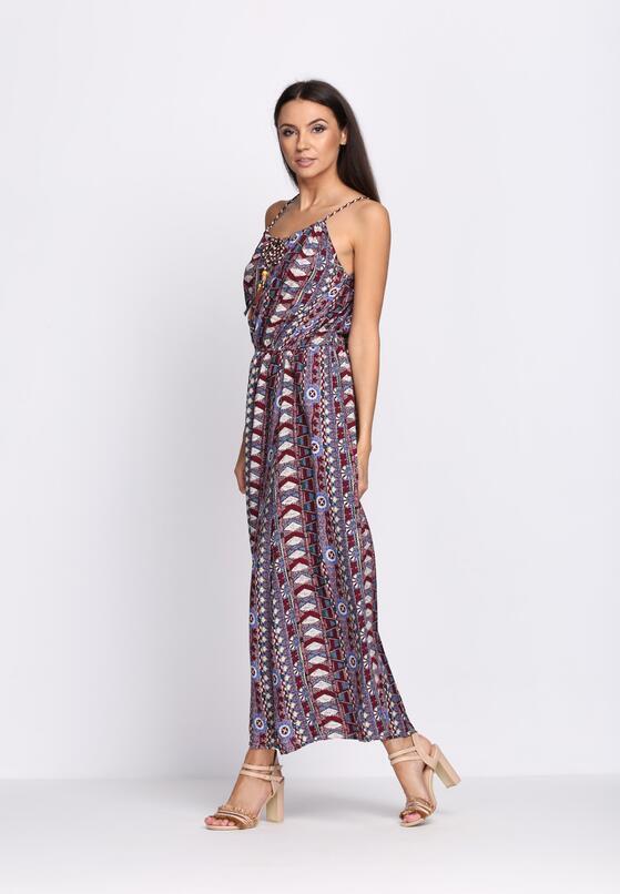Bordowa Sukienka Velvet Morning