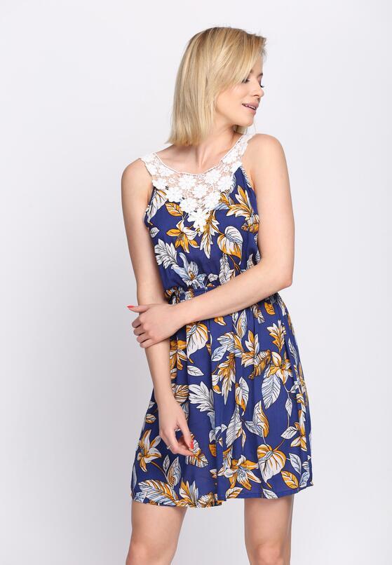 Niebieska Sukienka Love Don't Change