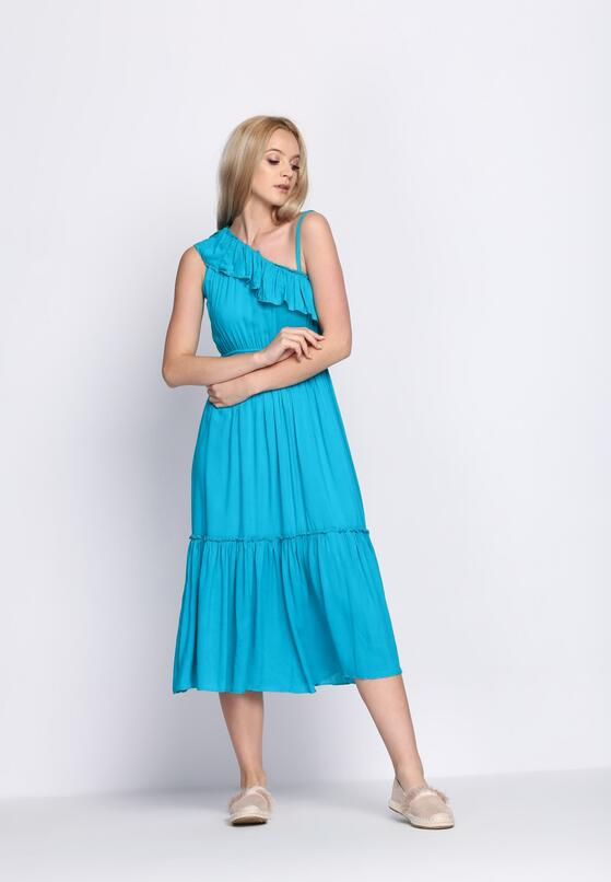 Niebieska Sukienka On High