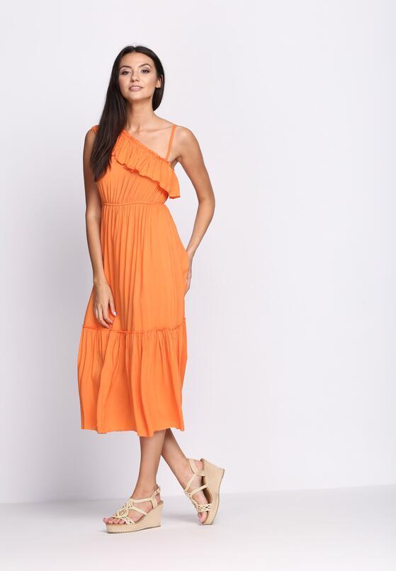 Pomarańczowa Sukienka On High