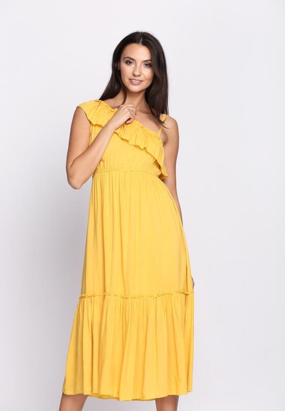 Żółta Sukienka On High