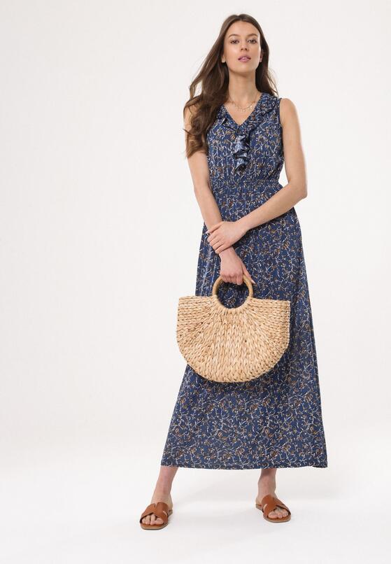 Niebieska Sukienka Retro Romantic