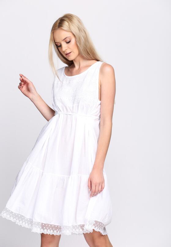 Biała Sukienka City Casual