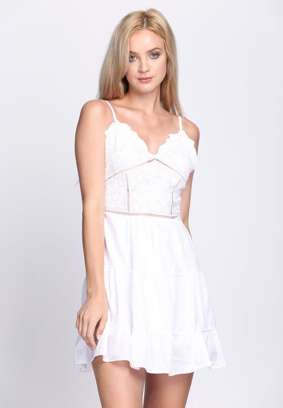 Biała Sukienka The Crown
