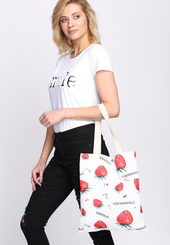 Biało-Czerwona Torebka Sweet Strawberry