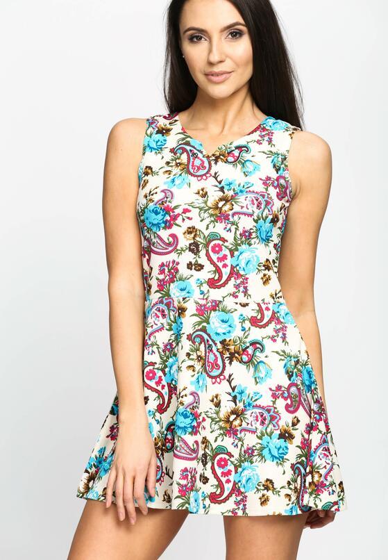 Beżowa Sukienka Lady Spring