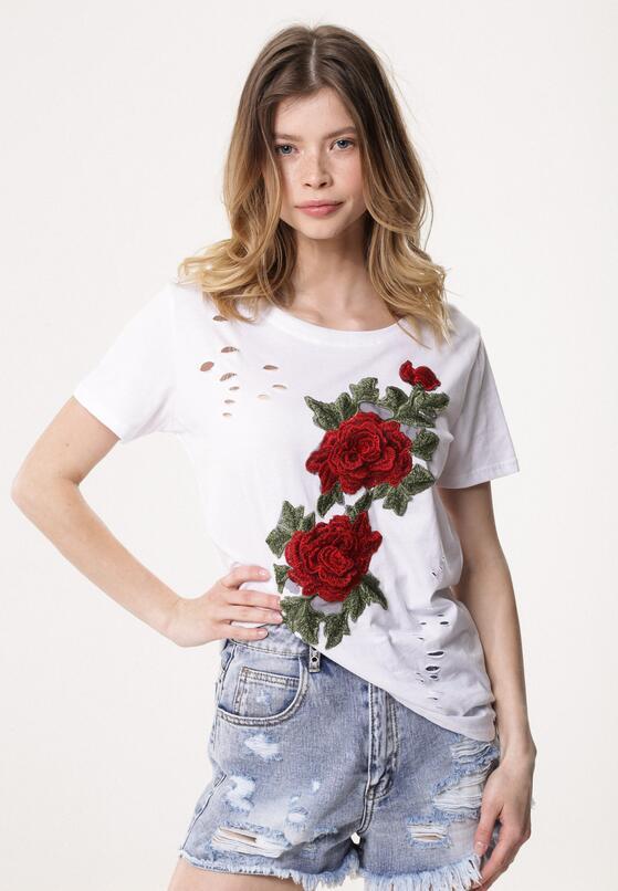 Biały T-shirt Inside Garden