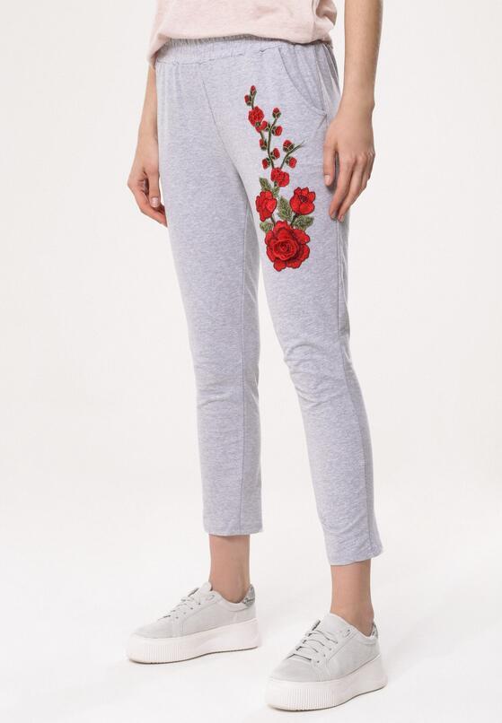 Szare Spodnie Dresowe Rosy Roses