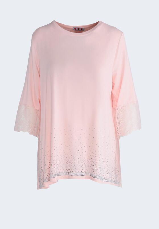 Różowa Bluzka Casually
