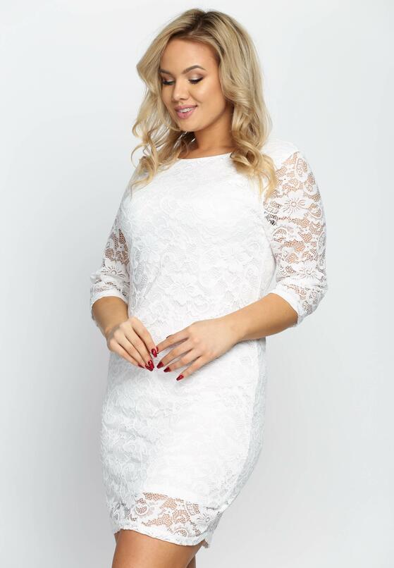 Biała Sukienka Sensual