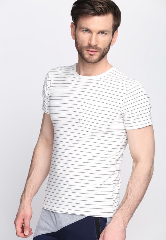 Biała Koszulka Roll Up