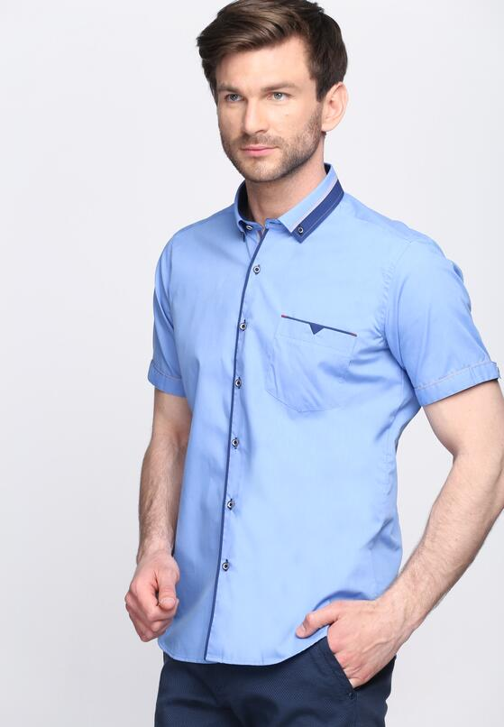 Niebieska Koszula Burning Mind