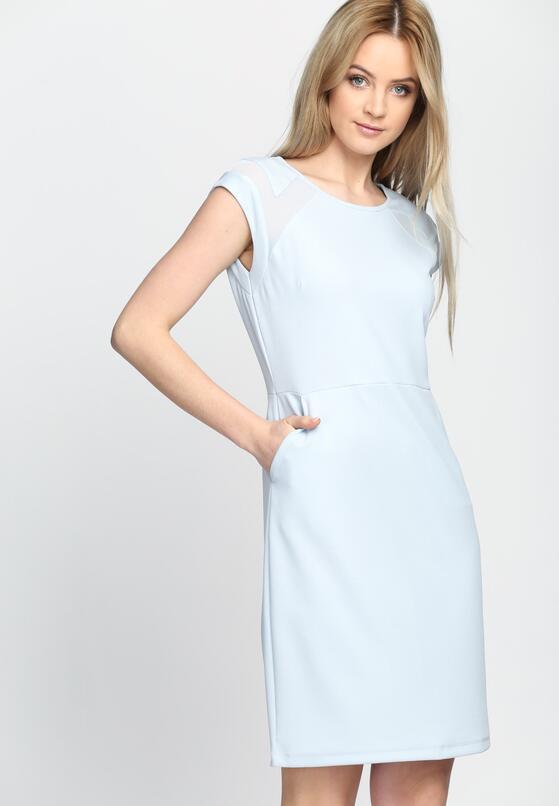 Niebieska Sukienka Care Bout Ya