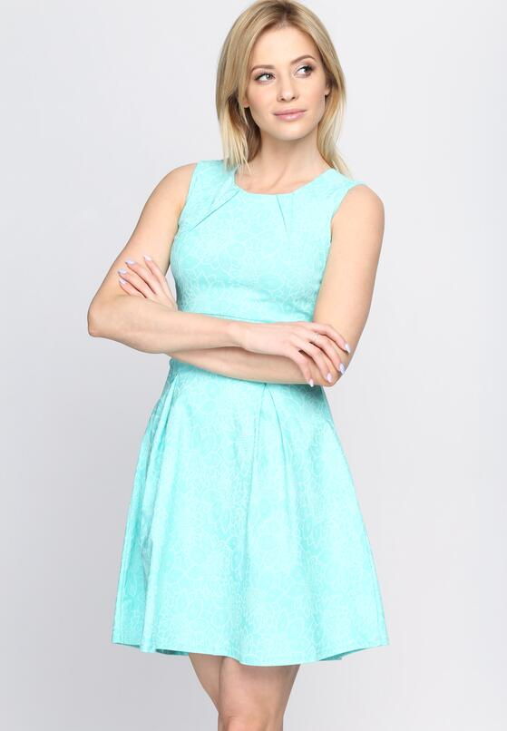 Miętowa Sukienka She Comes