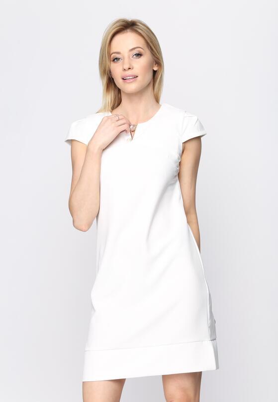 Biała Sukienka Bossed Up