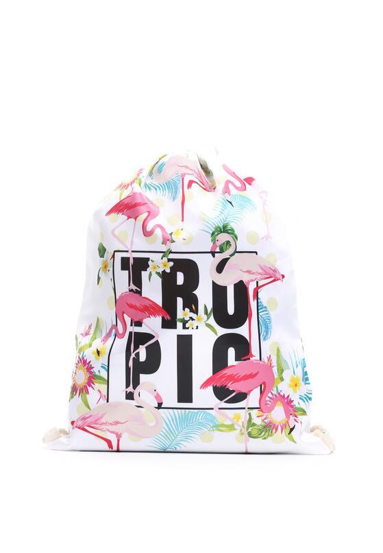 Biało-Różowy Plecak The Tropics