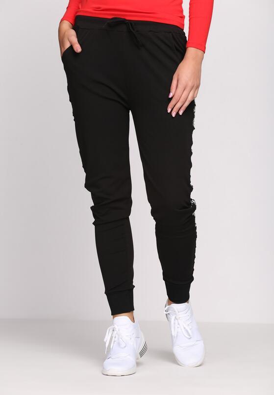 Czarne Spodnie Dresowe Accidental