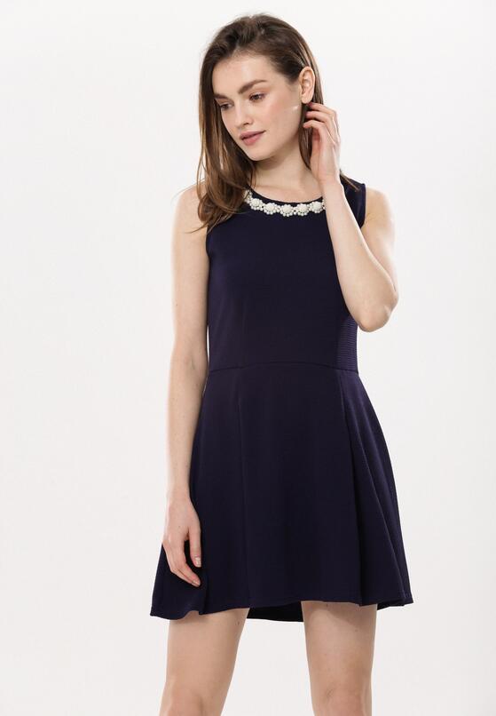 Granatowa Sukienka Contradiction
