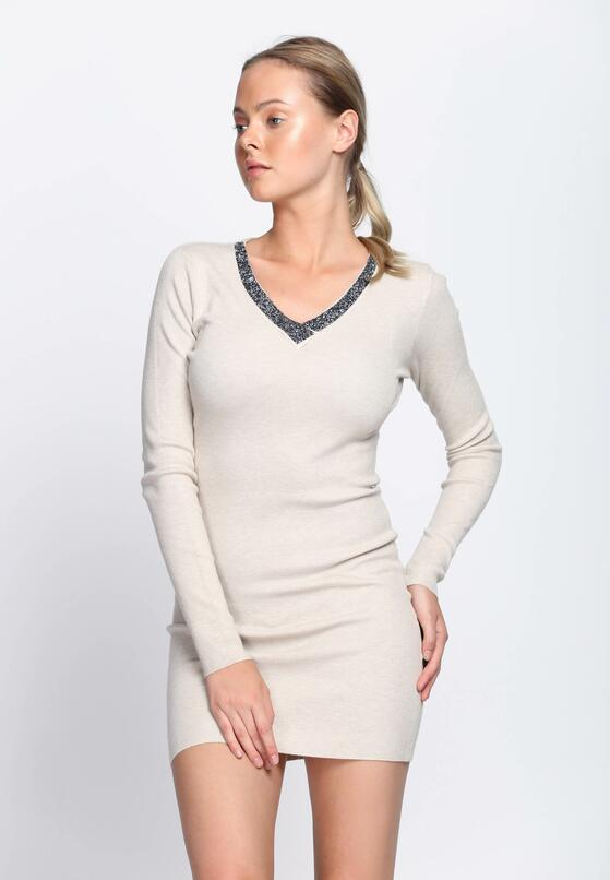 Beżowa Sukienka By Now