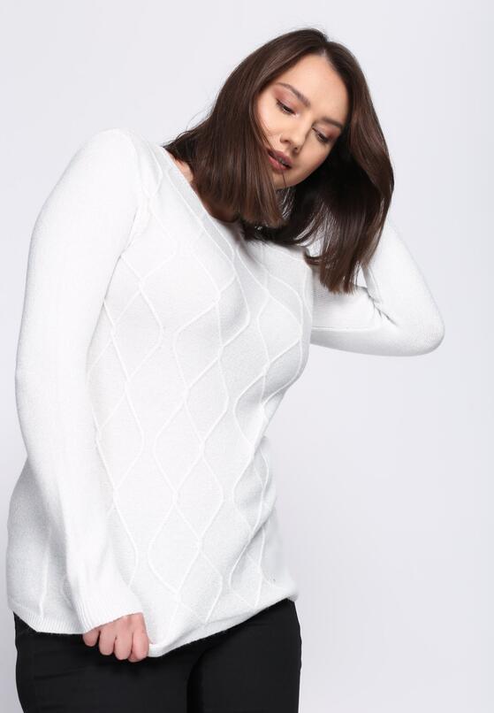 Biały Sweter Wait For Love