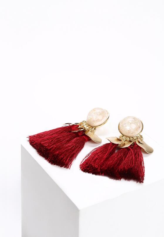 Czerwone Kolczyki Like Pearls
