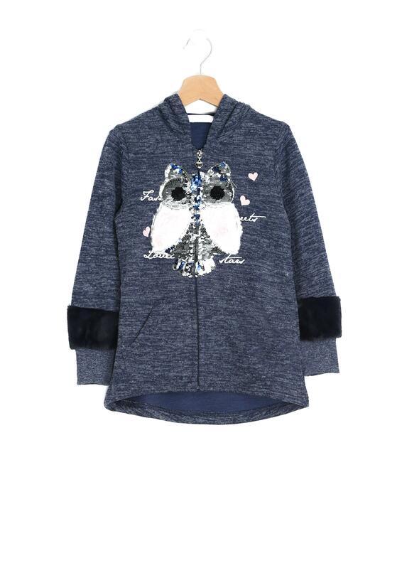 Granatowa Bluza Pink Owl
