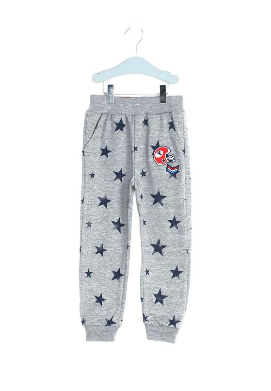 Szare Spodnie Dresowe In Stars