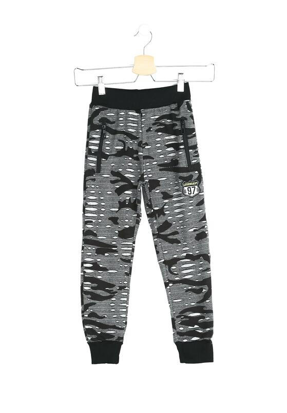 Czarne-Moro Spodnie Dresowe Foxglove