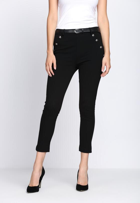 Czarne Spodnie Diamond Dust
