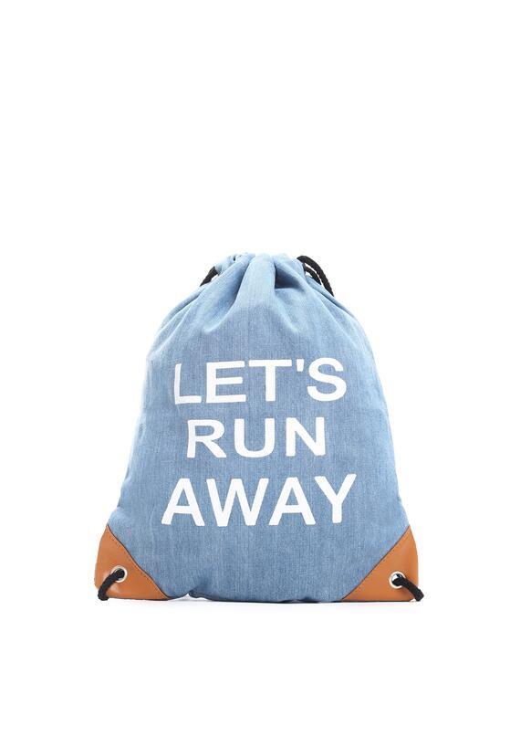 Niebieski Plecak Lets Run Away