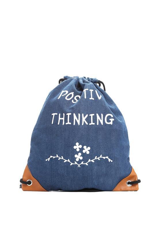 Granatowy Plecak Positive Thinking