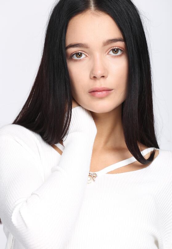 Biały Sweter Shiny Mermaid