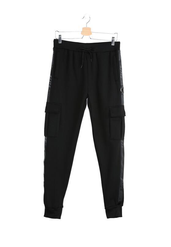 Czarne Spodnie Dresowe Long Suffering