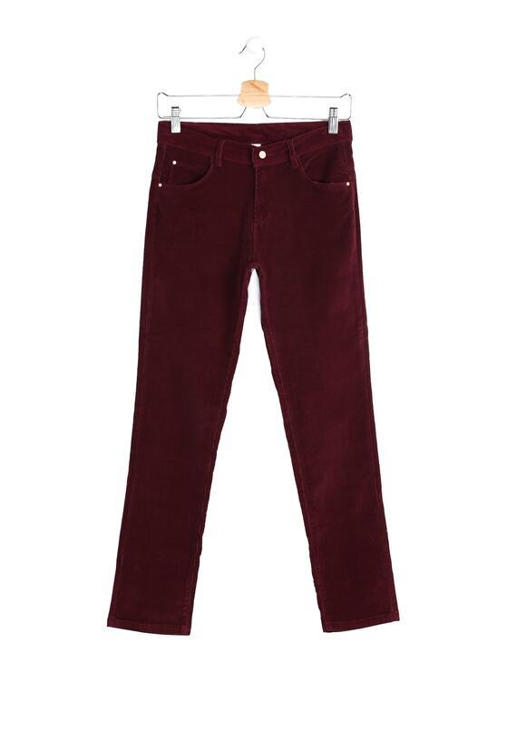 Bordowe Spodnie Drop the Home