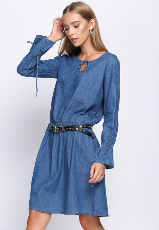 Niebieska Sukienka Temporary One