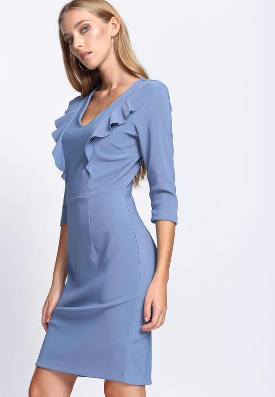 Niebieska Sukienka Black Out