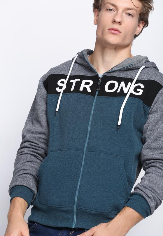 Szaro-Niebieska Bluza Go Stronger