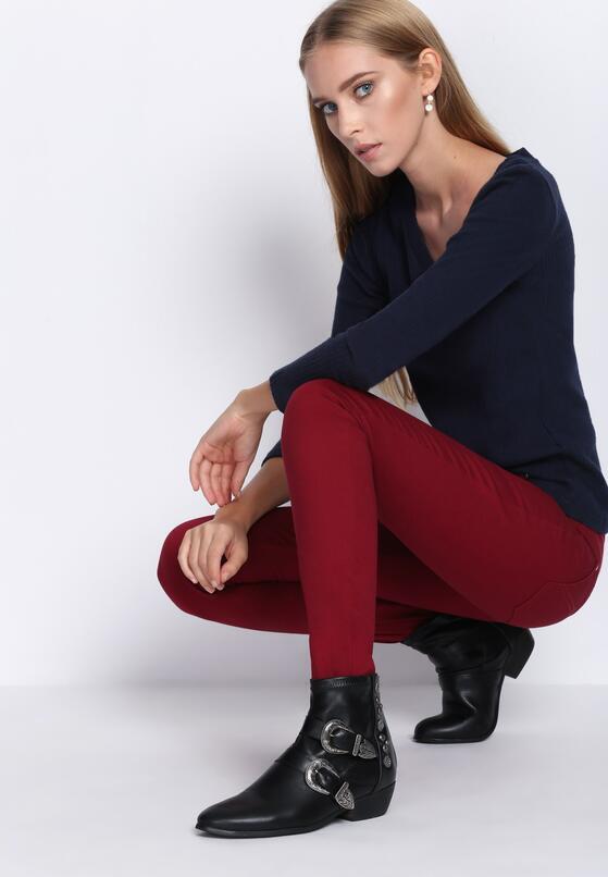 Bordowe Spodnie Autumn Air