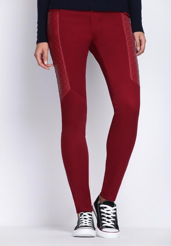 Bordowe Spodnie One More Day