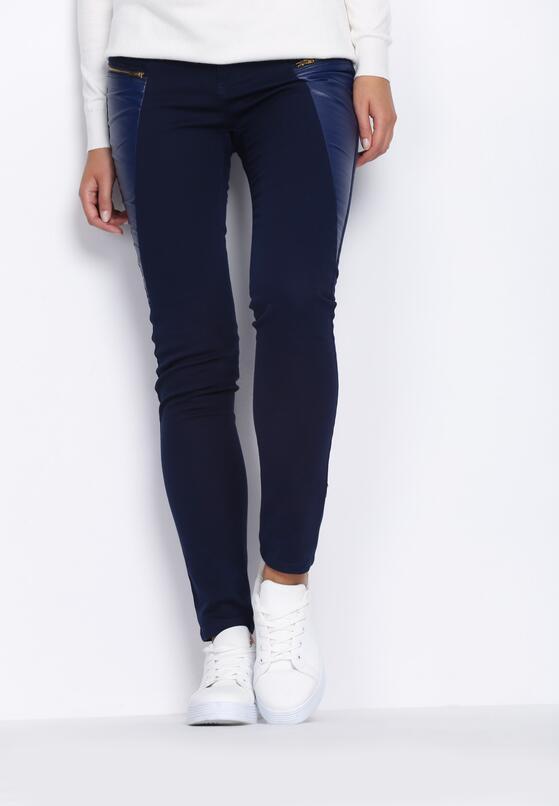 Granatowe Spodnie All For Me