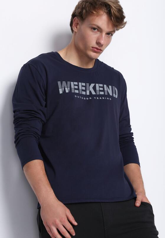 Granatowa Koszulka Weekend Vibes